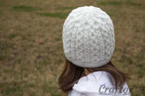 Girls winter beanie.  Back view.