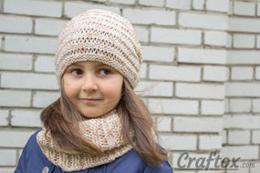 Slouchy and cowl set. Free knitting pattern.
