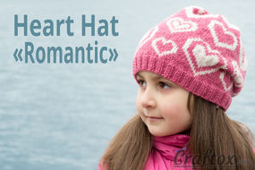 Heart hat Romantic knitting pattern
