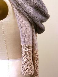 Knit shawl wrap Anastasia