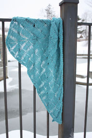 Knit shawl wrap Windlass Shawl 1