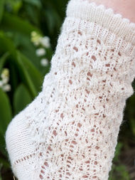 Knit socks mid calf Julie. Free pattern (lace). 2
