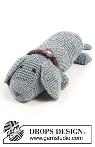 Knit softies animal Allie Woof the Dog 1