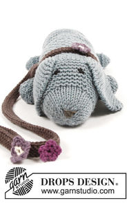 Knit softies animal Allie Woof the Dog