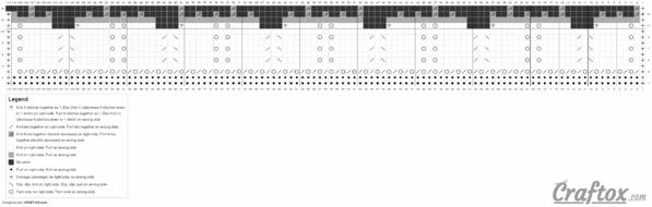 Knitting pattern chart 2. Flower.