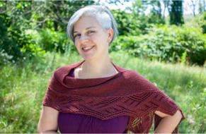 Knitted lace shawl Ceridwen. Free pattern. 4