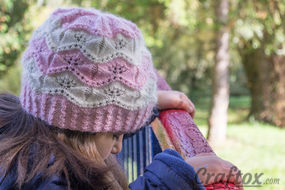 """Marshmallow"" beanie for girls. Knitting pattern."