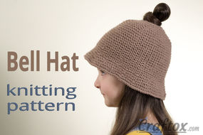 Hat free knitting pattern. Left view.