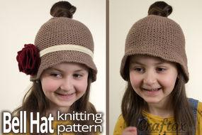 Messy bun Bell hat