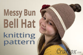 Messy bun hat free pattern.