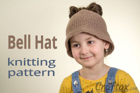 Messy bun hat knitting pattern.
