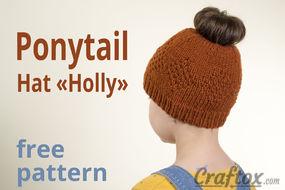Ponytail hat free knitting pattern