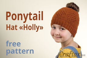 Ponytail hat free pattern