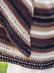 Semi-circular wrap Omega. Free knitting pattern. 2