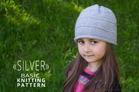 Beanie. Free basic knitting pattern.