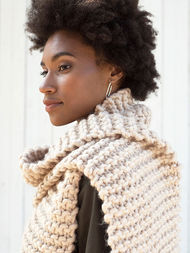 Simple scarf Fosdyke. Free knitting pattern. 3