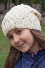 Slouchy beanie. Free knitting pattern. Pin me.
