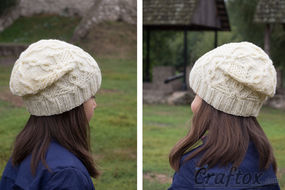 Slouchy beanie pattern.
