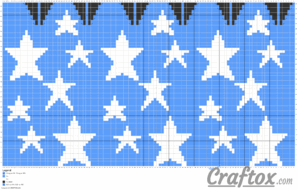 Knitting pattern (chart) 1 - slouchy beanie with stars