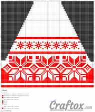 Pattern chart 2. Tunic (dress). Top back. Free jacquard knitting pattern.