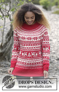 Unisex knit pullover Season Greetings