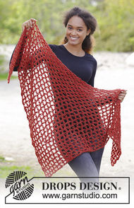 Women's and girls crochet shawl wrap Autumn Catch
