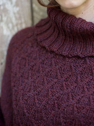 Women's and girls knit poncho Galilee. Free pattern (cables, turtleneck). 4