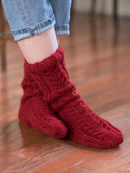 Women's cable socks Ayla. Free pdf pattern. 2