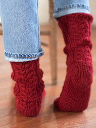 Women's cable socks Ayla. Free pdf pattern. 3