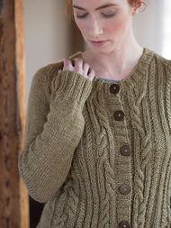 Women's cardigan Arya. Free knitting pattern (cables).  3