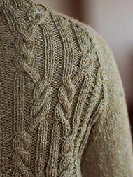 Women's cardigan Arya. Free knitting pattern (cables). 4