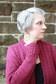 Women's knit cardigan Peverly. Free written pattern. 2