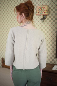 Women's knit pullover Bay. Free written pattern. 3