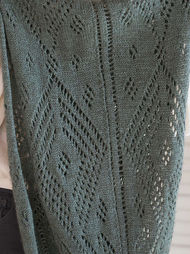 Women's knit shawl Gianna. Free pattern (lace). 3
