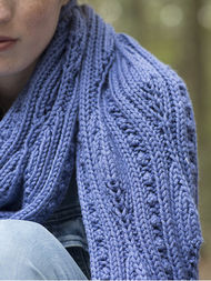 Women's lace scarf Forestdale. Free knitting pattern. 3