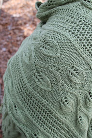 Women's shawl Finally Spring. Free knitting pattern (lace). 3