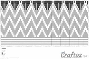 "Pattern chart 1. ""Zigzag"" beanie - free zig zag hat knitting pattern."