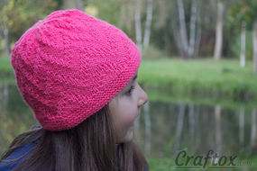 """Zigzag"" beanie - quick and simple knitting pattern"