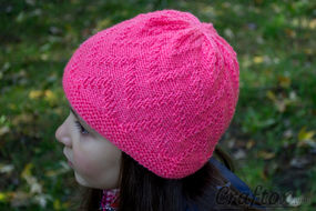 """""""Zigzag"""" beanie - quick and simple."""