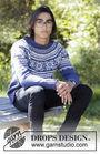 Unisex pullover Lofoten. Free knitting pattern (norwegian).