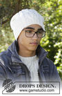 Boys and men's knit beanie Aure Hat. Free pattern (chart, video tutorial, written pattern).