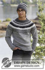 Boys and men's knit beanie (toque) Dalvik. Free pattern.
