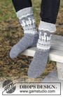 Boys and men's knit dutch heel (toe wide) Lama Rama Socks. Free pattern (norwegian).