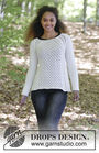 Easy girls and women's pullover Winter Grace. Free knitting pattern (cables, lace).