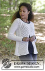Girls and women's cardigan Winter Grace Jacket. Free knitting pattern.