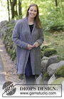 Girls and women's coat (jacket) Forest Mist. Free knitting pattern (shawl collar; v neck).