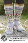 Girls and women's heel flap (socks mid calf, toe wide) Always Winter. Free knitting pattern.