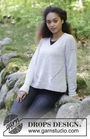 Girls and women's knit pullover Morven. Free pattern (v neck).