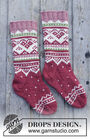 Girls (children) dutch heel (socks mid calf, toe wide) Visby Socks. Free knitting pattern.