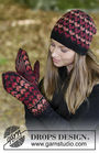 Girls (teen) and women's mittens Queen of Hearts. Free knitting pattern.